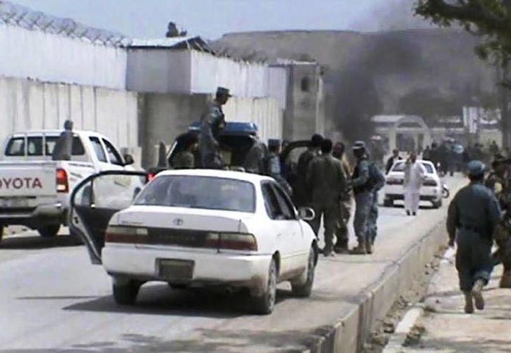 Imagen del lugar de la explosión, tomada de un video. (Agencias)