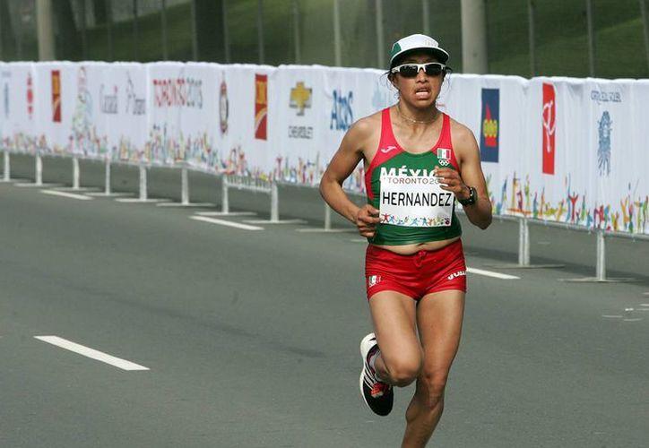 La maratonista Margarita Hernández logró en los pasados Juegos Panamericanos de Toronto 2015 un sexto sitio con marca de 2:41:57. Ahora busca mejorar de cara a los Juegos Olímpicos de Río 2016. (Imagen tomada de fmaa.mx)