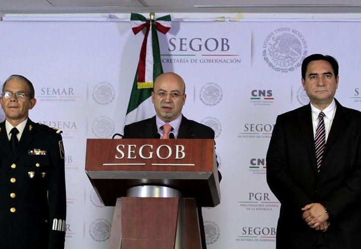 El coordinador Nacional Antisecuestro, Renato Sales, dijo que el líder de la cédula delincuencial relacionada con 'El Perro' fue aprehendido el pasado 4 de septiembre. (Notimex)