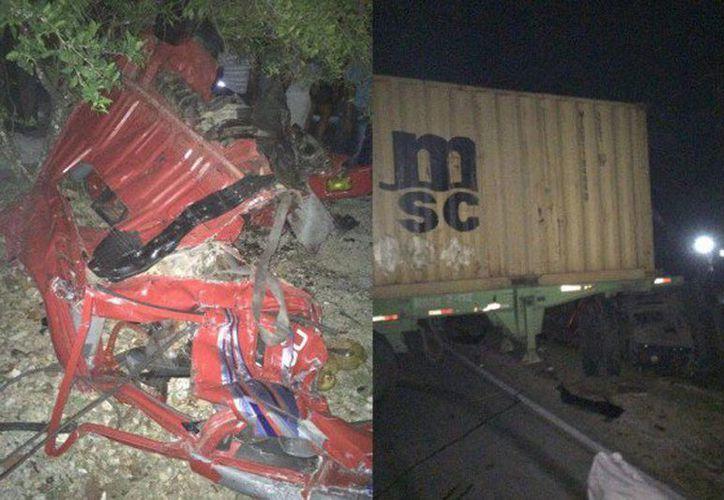 Hasta la mañana del domingo se había identificado los cadáveres de ocho mujeres y cinco hombres del choque entre los dos vehículos en Nagua, República Dominicana. (hoy.com.do)