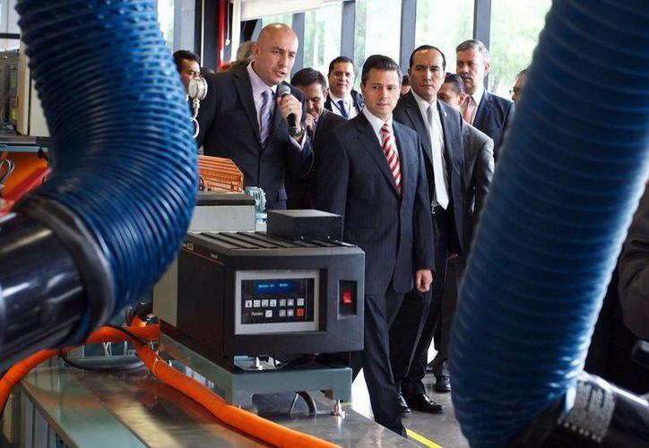 Peña celebró la inversión de 3M en San Luis Potosí. (Notimex)