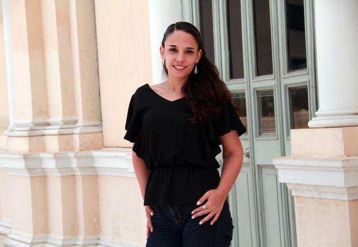 """Creo que mi aportación al Museo Palacio Cantón ha sido un enfoque de participación para acercarlo a la sociedad, conocer al público, hacerlo un espacio dinámico"""", aseguró Giovana Jaspersen García. (Jorge Acosta/Milenio Novedades)"""