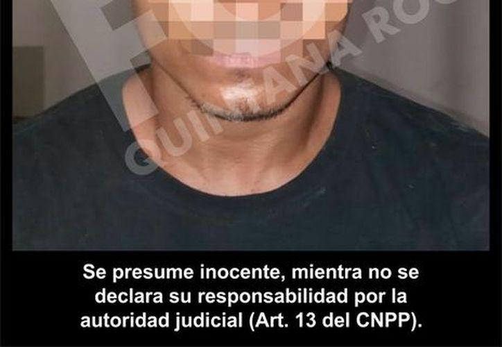 Presunto secuestrador investigado por autoridades ministeriales. (Foto: SIPSE)
