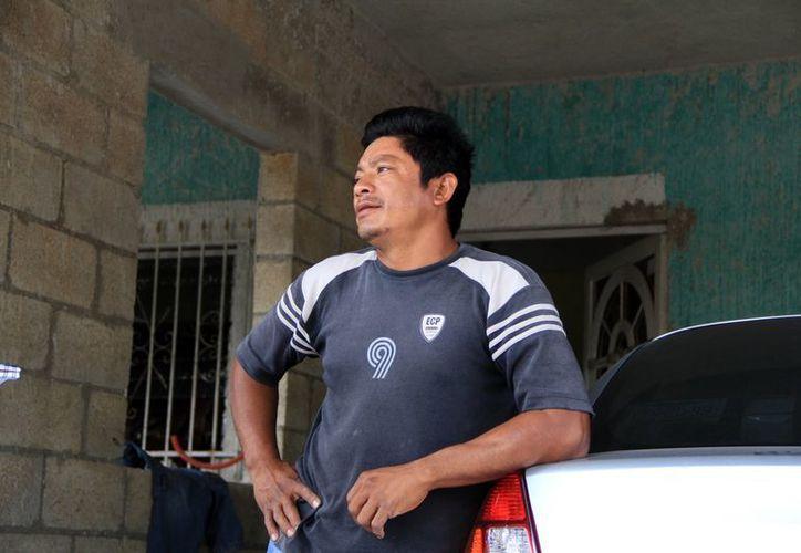 Luis Alonzo Caamal, ex empleado de la empresa agrícola. (José Acosta/SIPSE)