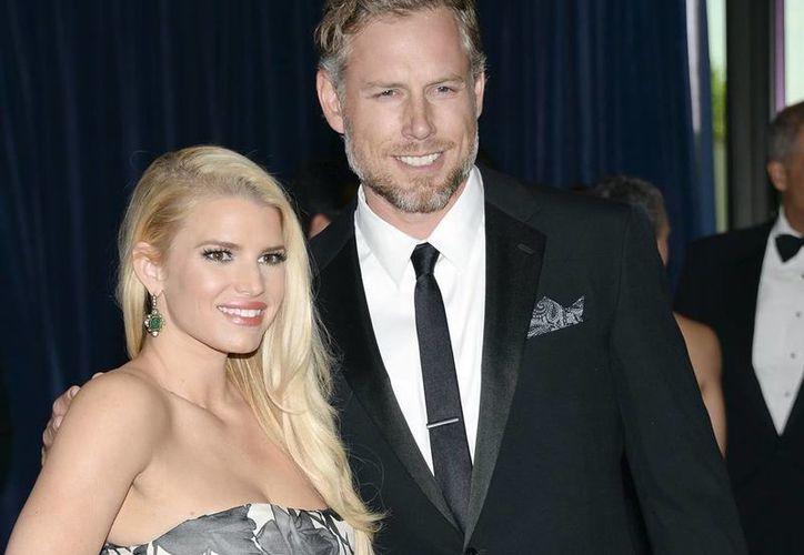 Este es el segundo matrimonio tanto para Jessica Simpson, como para Eric Johnson. (AP)