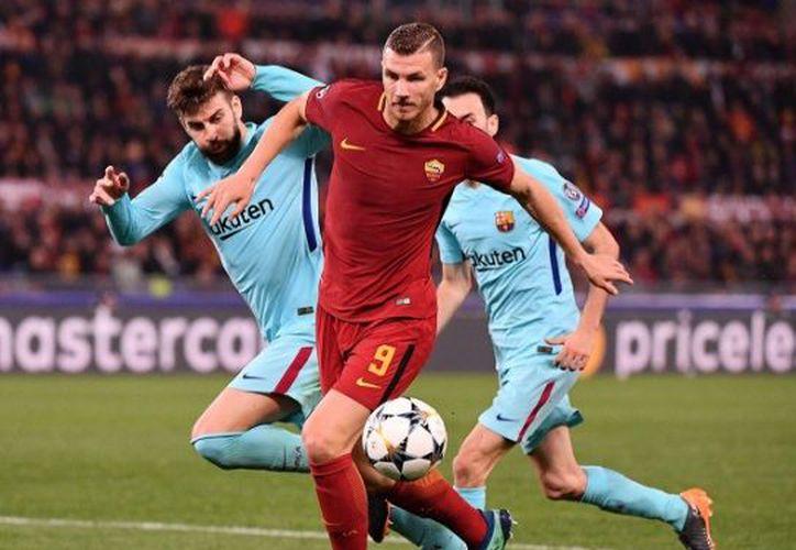 Los muchachos de Di Francesco golearon al Barça por 3-0. (Twitter: AS Roma)