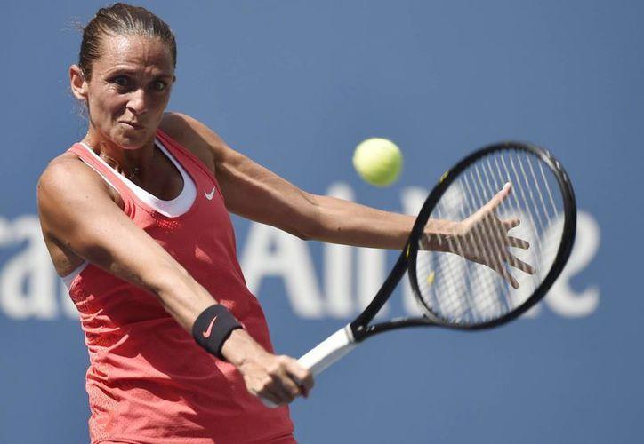 Roberta Vinci, que hasta ahora solo había destacado en dobles, calificó a su primera semifinal de un Grand Slam en singles, en el Abierto de EU. (EFE)