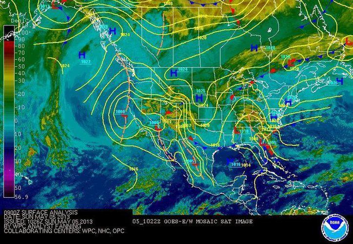 La probabilidad de lluvias es de un 10 por ciento. (NOAA)