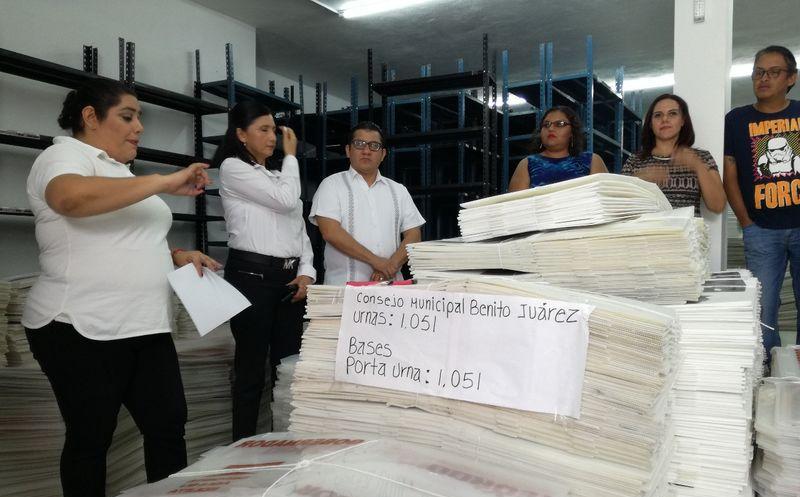 Las autoridades electorales preparan los insumos para tenerlos listos el próximo 1 de julio. (Joel Zamora/SIPSE)