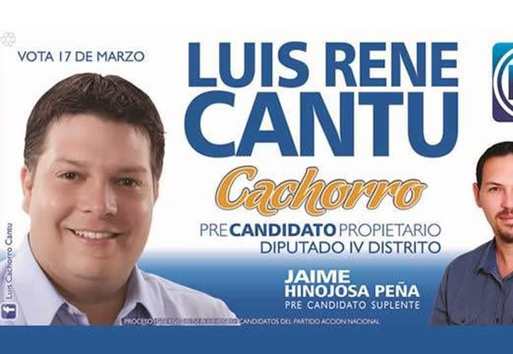 'Cachorro' compite por la diputación del IV distrito. (elchilito.com.mx)