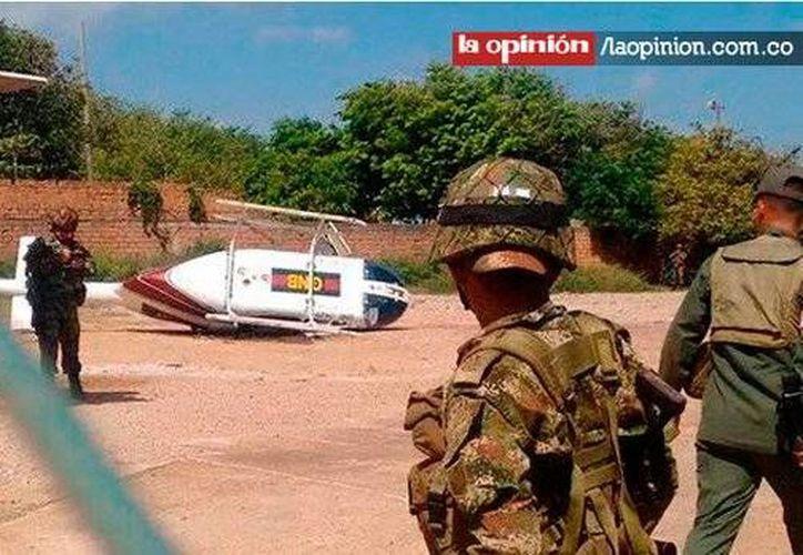 Un helicóptero de la Guardia Nacional Bolivariana de Venezuela cayó debido a problemas técnicos, en la frontera del lado colombiano dejando dos heridos. (Twitter: @laopinioncucuta)