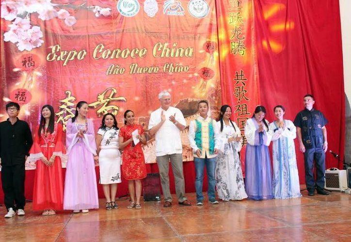 Imagen de la Expo Conoce China que se realiza en Mérida. (Milenio Novedades)