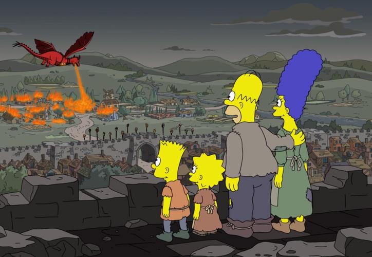 """Los Simpson llevaron a la pantalla lo que Daenerys Targaryen hace en """"Las campanas"""" con King's Landing. (Internet)"""