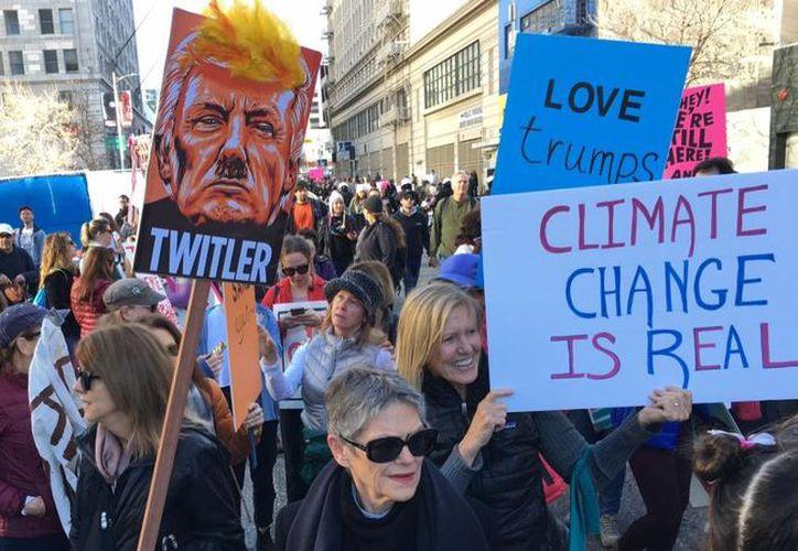 """Esto es parte de lo que se vivió en Los Ángeles, California en enero de 2017, en la pasada """"Marcha de las Mujeres"""". (Contexto/Internet)"""