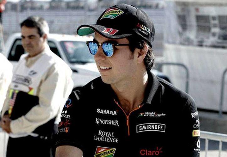 El piloto mexicano Sergio 'Checo' Pérez correrará para la escudería de F1 Force India, con el número 11. (Archivo/La afición)