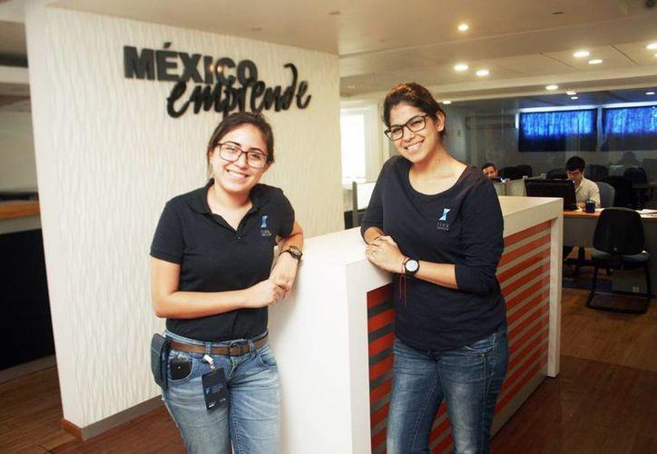 Nathidi Pérez Domínguez y Gehovana Samos Loría fundadoras de Link Service. (Milenio Novedades)