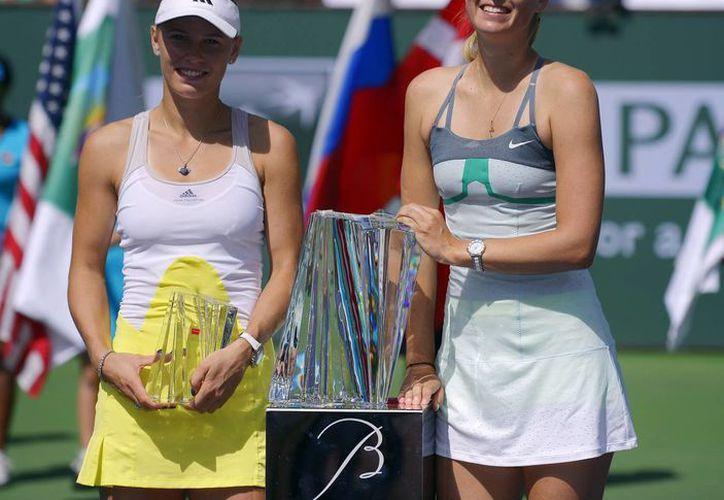Indian Weells es la quinta victoria de Sharapova sobre Wozniacki, con quien se ha enfrentado siete veces. (Agencias)