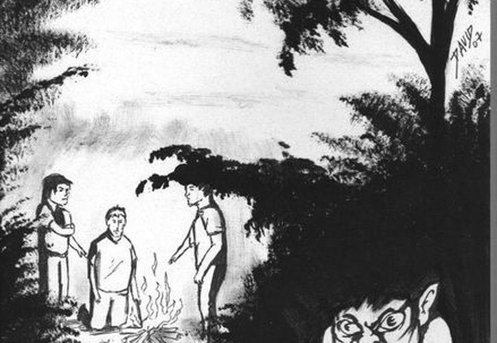 """Muchos misterios encierran los montes de la Península de Yucatán, como el """"K'ak 'asbal"""", espíritu capaz de matar a cuanto ser humano que se le cruce en el camino. (Jorge Moreno/SIPSE)"""