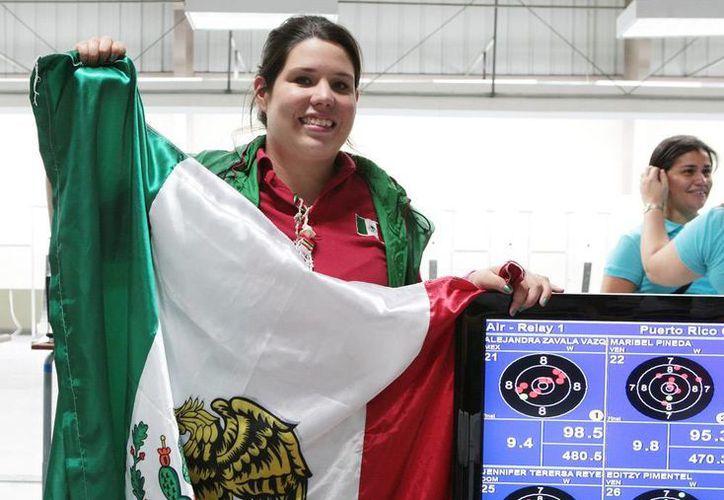 La mexicana Alejandra Zavala ha tenido un buen inicio en tiro deportivo en el torneo Intershoot de La Haya, Holanda. (aymsports.net/Foto de archivo)