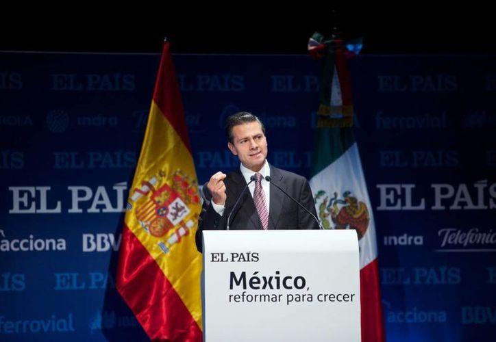 Peña Nieto participó en un evento organizado por el diario español El País para hablar de las reformas estructurales en México. (Presidencia)