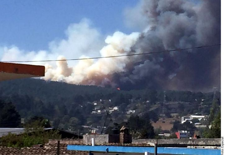 Desde las 7:30 horas, y hasta este momento, se explicó que siguen trabajando las brigadas de emergencias en el Ejido Toxtlacoaya por el incendio forestal, en el Municipio de Las Vigas de Ramírez, en Veracruz. (Agencia Reforma)