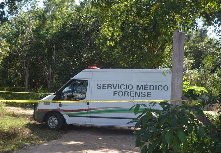 El cuerpo del joven trabajador fue levantado por personal del Semefo para practicarle la necropsia de ley. (Foto: Redacción/SIPSE)