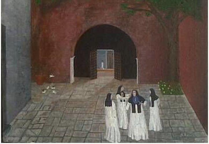 Representación del atrio del extinto convento de monjas en épocas de funciones. Comúnmente este acceso por la calle 64 estaba cerrado, y solo en fechas especiales se abrían las puertas. (Sergio Grosjean/SIPSE)