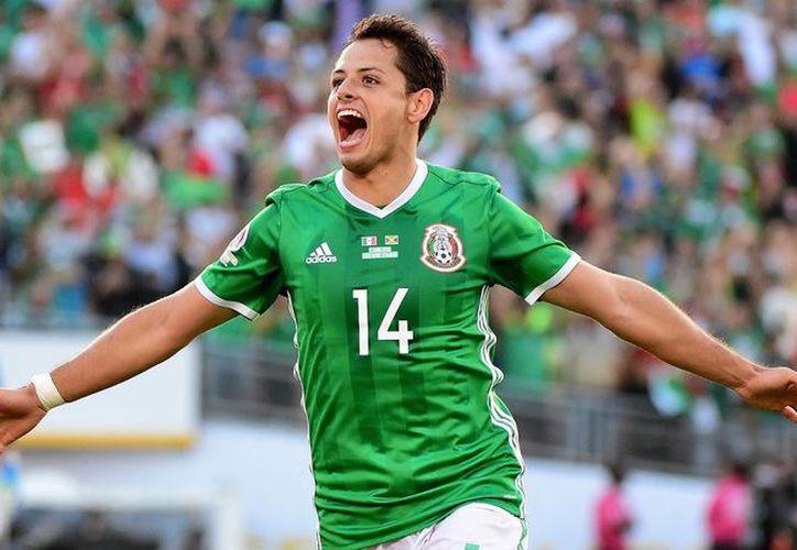 Javier Hernández participó en el encuentro amistoso frente al representativo de Bélgica, en el que México concluyó con empate a tres goles. (Contexto/Internet)
