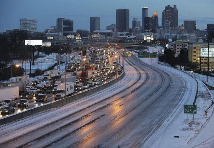 En el estado de Georgia, las condiciones meteorológicas causaron 1,200 accidentes. (EFE)