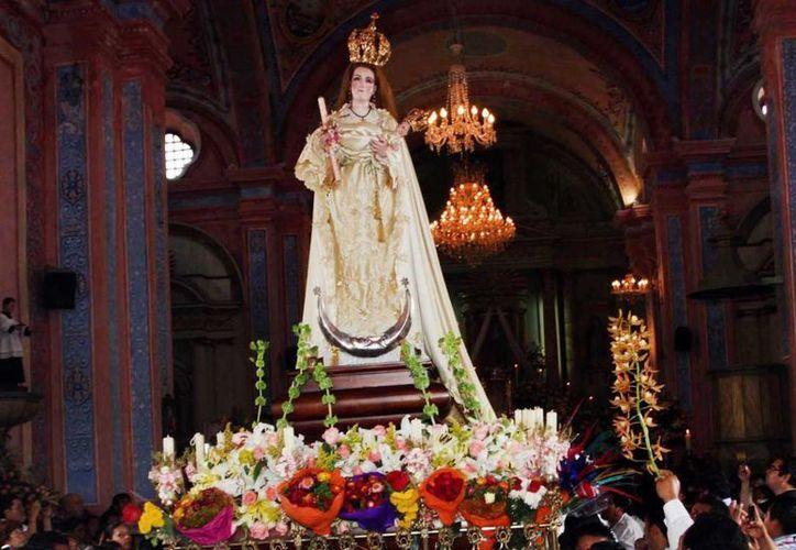 Las celebraciones de la virgen de la Candelaria culminan el 13 de marzo en la mayordomía zoque de Tuxtla Gutiérrez, Chiapas. Imagen utilizada con fines estrictamente referenciales. (Archivo/Notimex)