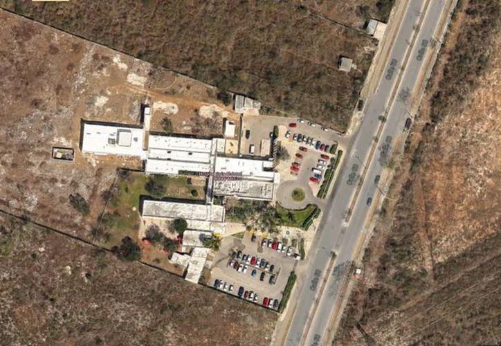 Imagen aérea de la zona donde se construirá el nuevo Hospital Materno Infantil de Yucatán. (Milenio Novedades)