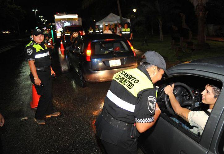 """El programa """"Conduce Sin Alcohol"""" ha reducido el número de accidentes viales, aseguran. (Archivo/SIPSE)"""