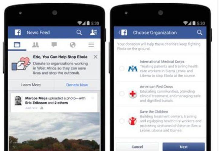 Los usuarios de Facebook tendrán una opción que les permitirá donar a tres organizaciones sin ánimo de lucro.(wwwhatsnew.com)