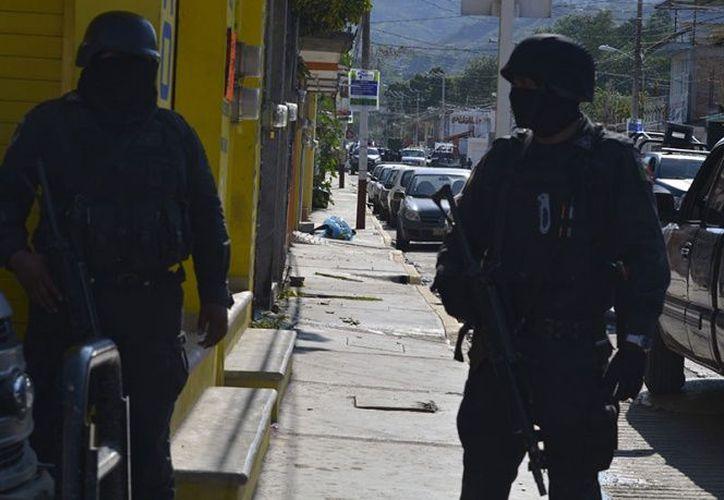 Personal militar repelió un ataque armado en las cercanías de la localidad de Pachivia, municipio de Teloloapan. (Excélsior).