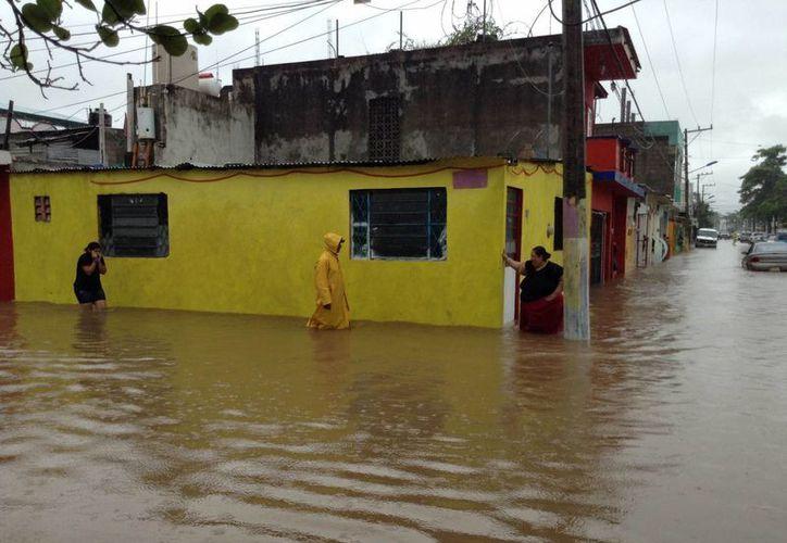 En Tabasco se han registrado más de dos mil milímetros de agua en las lluvias que han impactado la entidad por los frentes fríos de la temporada. (Notimex)