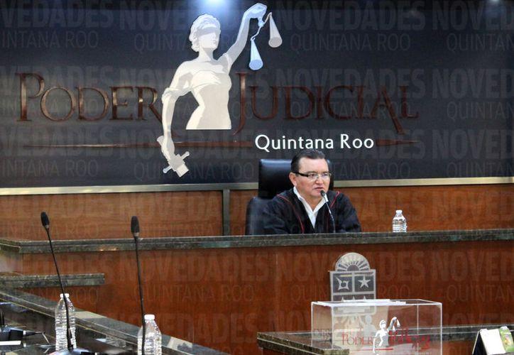 José Antonio León Ruiz, aseguró que trabajará para mejorar la impartición de justicia. (Foto: Joel Zamora/SIPSE).