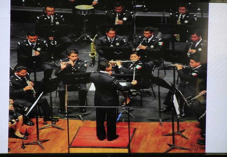 Participarán más de 60 músicos en el concierto, todos ellos policías en activo de la Comisión Nacional de Seguridad Pública. (Sergio Orozco/SIPSE)
