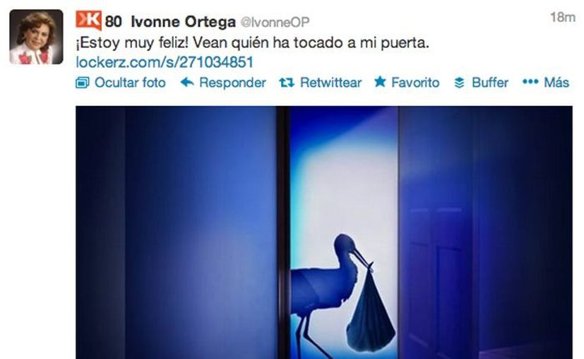 Imagen del tuit de la exgoberandora. (Twitter)