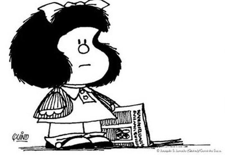 'Las aventuras de Mafalda' se desarrollaron de 1964 a 1973, aunque claro está que su imagen y sus atemporales e irónicos mensajes en pro de un mundo mejor la han hecho inmortal. (genciadenoticias.unal/ EFE)