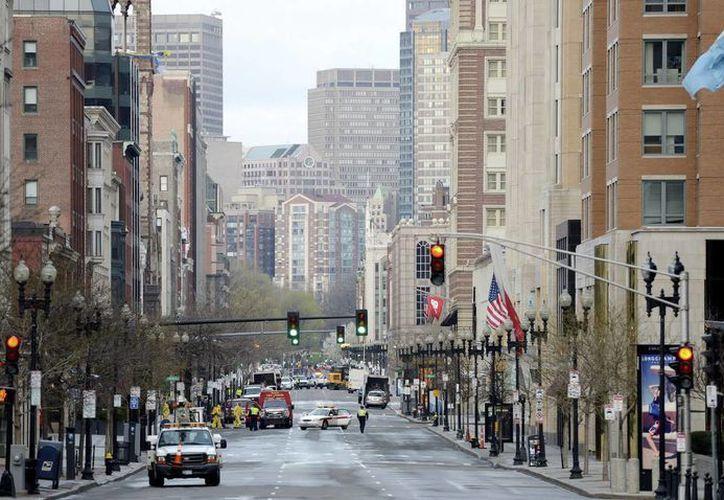 Avenida Boylston, que pertenece a la zona donde el 15 de abril se produjeron los atentados en Boston. (EFE)