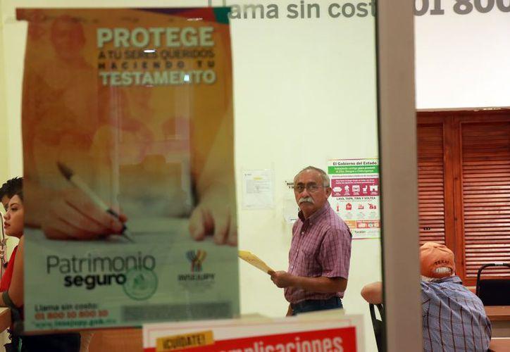 Espacio del Insejupy en donde se reciben los testamentos ológrafos. (Foto: Jorge Acosta)