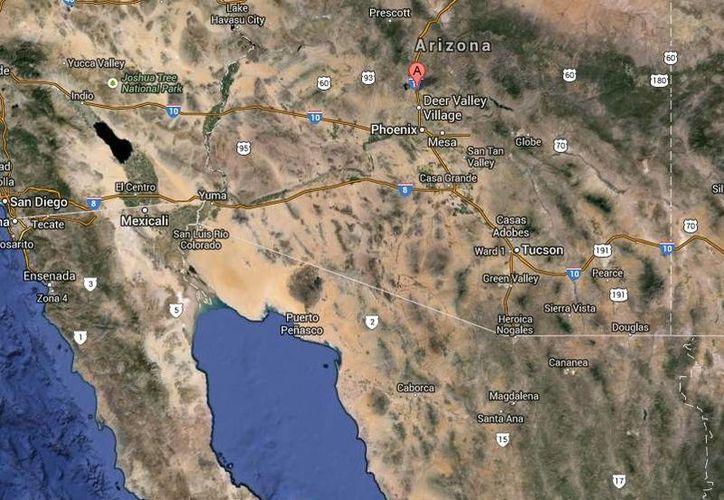 Los detenidos en las Montañas Cabeza Prieta ocultaban tres mochilas con marihuana bajo unas rocas. (Google Maps)