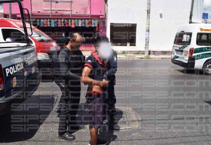 G Lara 'Estrella' fue llevado a las instalaciones de Seguridad Pública. (Foto: SIPSE)