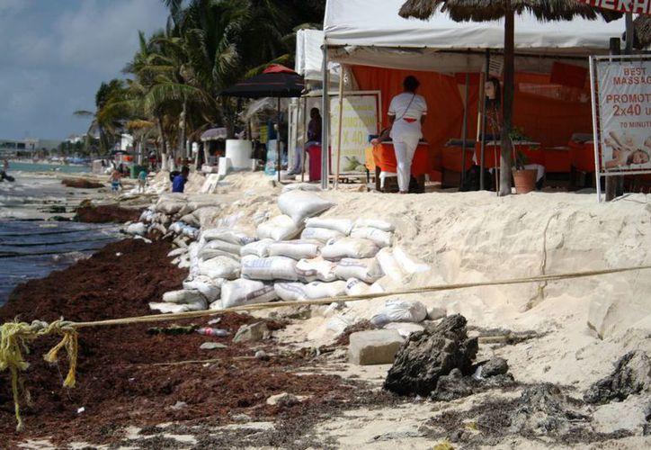 Los prestadores de servicios turísticos que están en la zona más erosionada de Playa del Carmen serán reubicados. (Octavio Martínez/SIPSE)