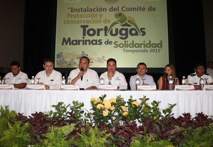 El Comité de Protección y Conservación de Tortugas Marinas del Municipio de Solidaridad  fue instalado ayer. (Adrián Barreto/SIPSE)