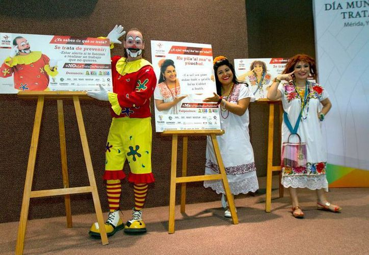 Personajes cómicos de Yucatán serán la imagen de una campaña contra la trata de personas, anunció este jueves la Fiscalía General del Estado. (Notimex)