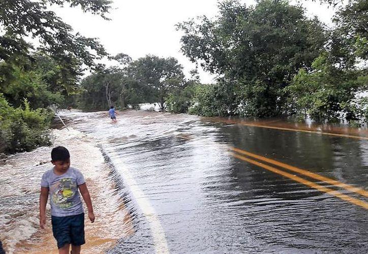 Habitantes indicaron que registraron inundaciones nunca antes vistas, pues el agua alcanzó varios centímetros en las viviendas, obligando a familias a buscar refugio. (Javier Ortiz/SIPSE)
