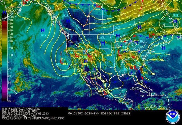 Soplarán vientos del este y sureste de 20 a 40 km/h. (Cortesía/SIPSE)