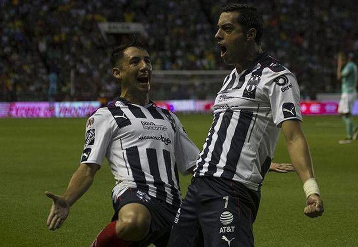 Funes Mori fulminó a La Fiera con su triplete. (Club Monterrey)