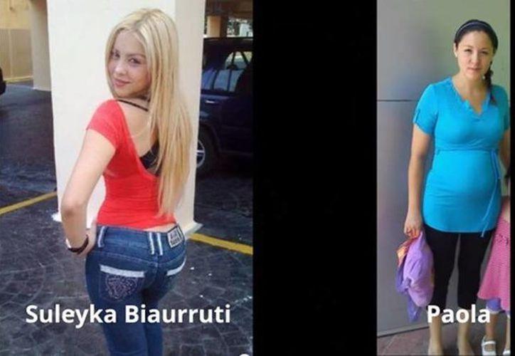 Al comparar las imágenes de Facebook de Suleyka Biaurruiti con las fotos tomadas a Paola Geraldine, un peritaje documenta que la acusada posee señas particulares que están ausentes en las fotografías de Suleyka. (YouTube)